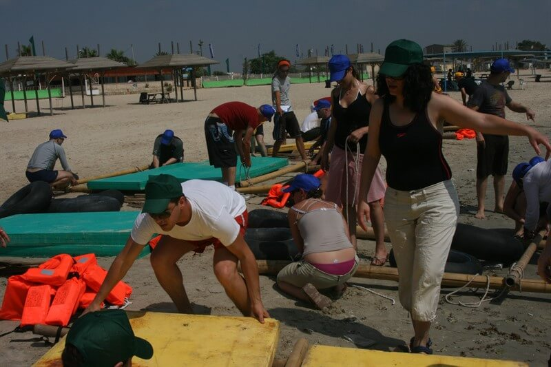 פעילות משותפת על חוףהים עם עובדי החברה